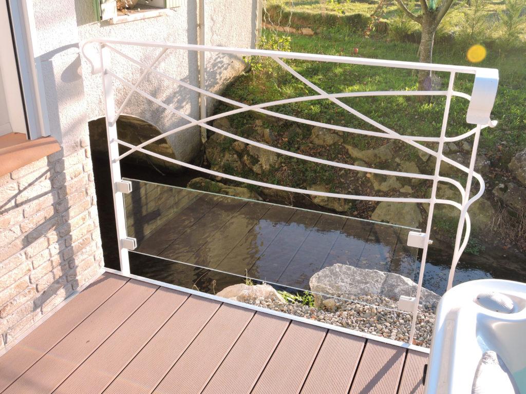 Fabricant garde corps verre et métal, rampe, balustrade fer forgé Pau, Angais, 64, orthez, Tarbes