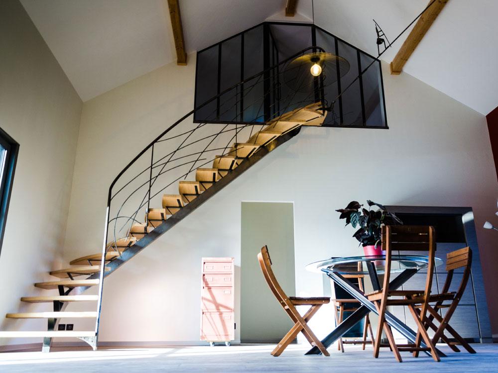 Un escalier unique pour augmentez la valeur de votre maison