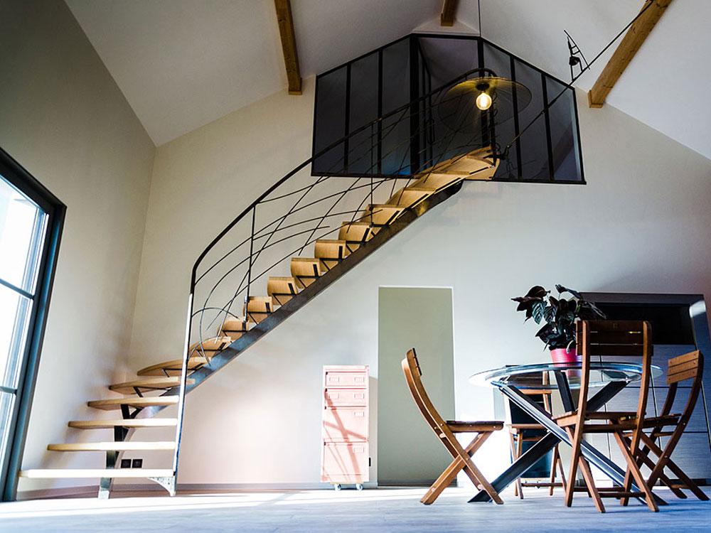 Escalier acier – Réf RNT