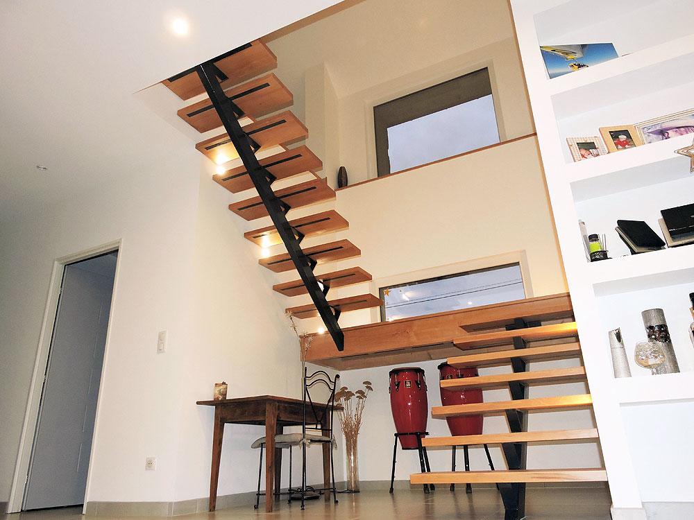Escalier métal et bois – Réf MYN