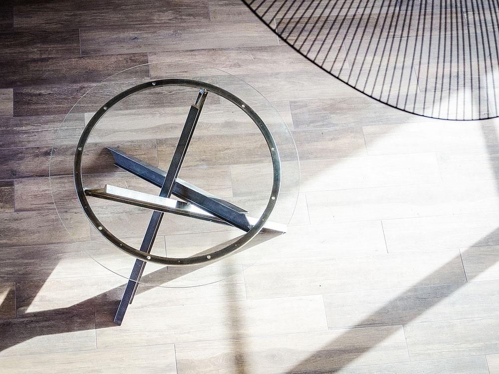 Table acier et verre – Réf RNT