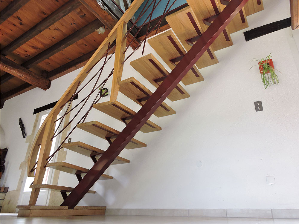 Escalier métal et bois – Réf BLN