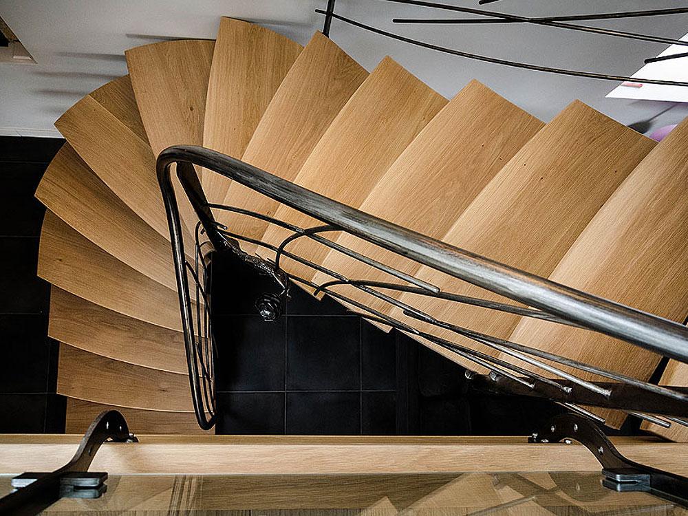 Escalier métal et bois – Ref HRC